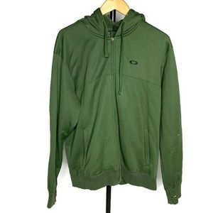 Oakley Army Green Full Zip Light Jacket Coat